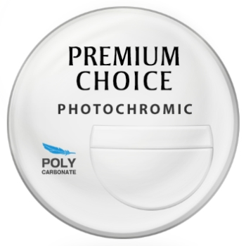Premium Choice Photochromatic [Gray or Brown] Polycarbonate 7x28 Tri-Focal Lenses